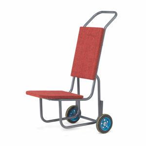 Vozík na židle s ochrannými podložkami