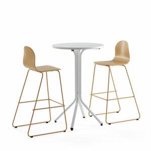 Sestava Various + Gander, 1 stůl a 2 hořčicové židle