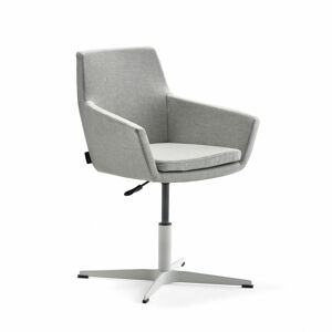 Konferenční židle Fairfield, bílá, stříbrnošedá
