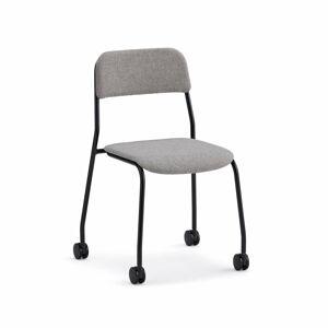 Stolička Attend, s kolečky, černá, béžová