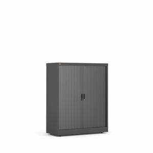 Roletová skříň Studio, 1200x1000x420 mm, černá, černé dveře