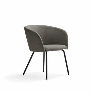 Židle Happy, černá, šedobéžová