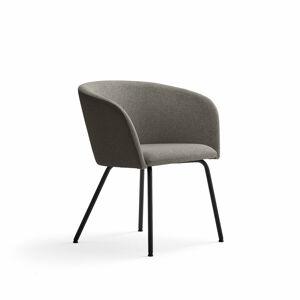 Židle Happy, černá, hnědá/šedobéžová