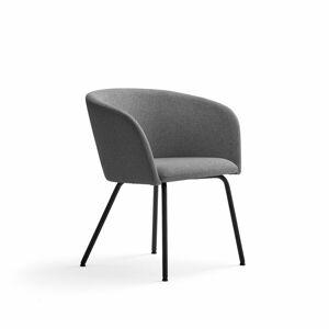 Židle Happy, černá, šedá/světle šedá