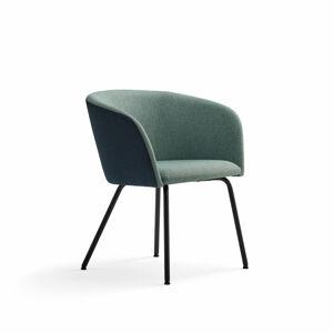 Židle Happy, černá, petrolejově modrá/tyrkysová