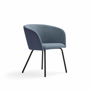 Židle Happy, černá, tmavě modrá/modrošedá