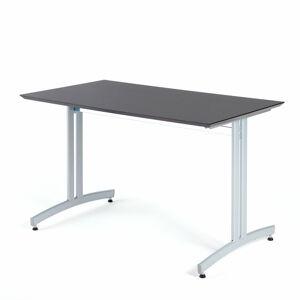 Jídelní stůl Sanna, 1200x700 mm, HPL, černá, hliníkově šedá