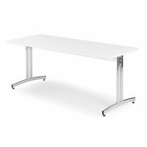 Jídelní stůl Sanna, 1800x700 mm, HPL, bílá, chrom