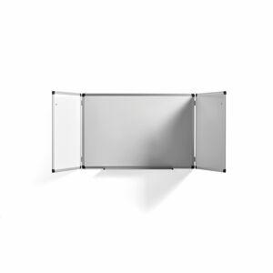 Bílá magnetická tabule, rozevírací, 1800x600 mm