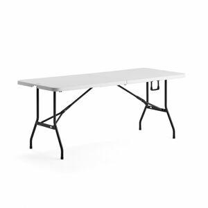 Skládací stůl Klara, 1800x750 mm, bílá plastová deska