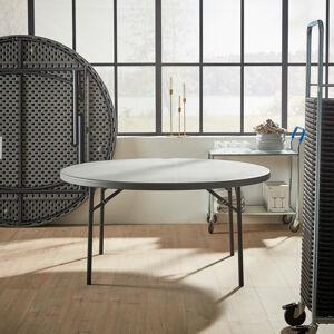 Kulatý skládací stůl, ?1500 mm, tmavě šedý