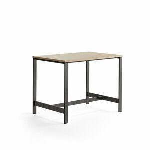 Stůl Various, 1200x800 mm, výška 900 mm, černé nohy, dub