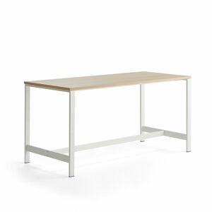 Stůl Various, 1800x800 mm, výška 900 mm, bílé nohy, dub