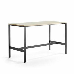 Stůl Various, 1800x800 mm, výška 1050 mm, černé nohy, bříza