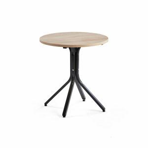Stůl Various, ?700 mm, výška 740 mm, černá, dub