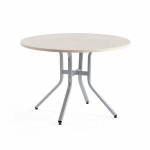 Stůl Various, ?1100 mm, výška 740 mm, stříbrná, bříza