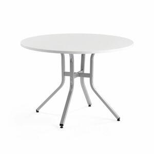 Stůl Various, ?1100 mm, výška 740 mm, stříbrná, bílá