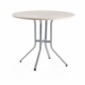 Stůl Various, ?1100 mm, výška 900 mm, stříbrná, bříza