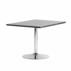 Jednací stůl Avery, rozšiřující díl, 1200x800 mm, HPL, černá, chrom