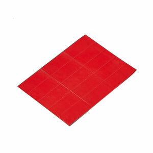Magnetické štítky, 22x50 mm, červené