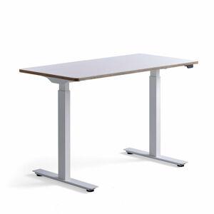 Psací stůl Novus, 1200x600 mm, bílá podnož, bílá deska