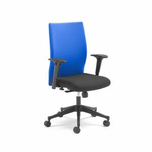 Kancelářská židle Milton, s područkami, modrá
