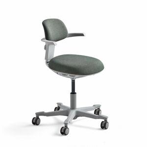 Kancelářská židle Newbury, bílá/zelená