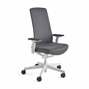 Kancelářská židle Belmont, bílá, tmavě šedá
