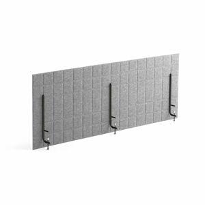 Stolový paraván Split, 1600x600 mm, světle šedý