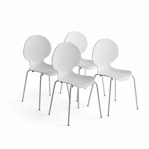 Židle Pomona, bal. 4 ks, bílá