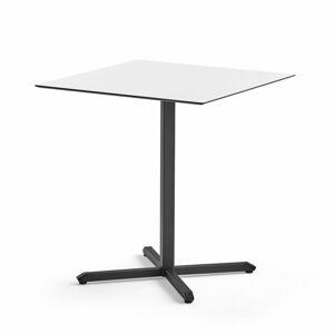 Stůl Becky, 680x680x720 mm, černý rám, bílá
