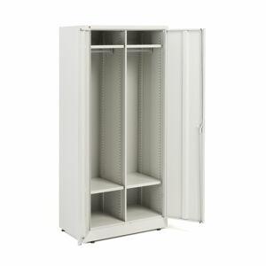 Kovová šatní skříň, 1800x800x500 mm, šedá