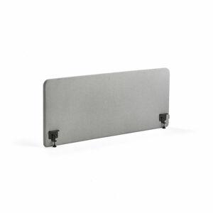 Stolový paraván Zone, 1600x650x30mm, vč. svorek, světle šedá