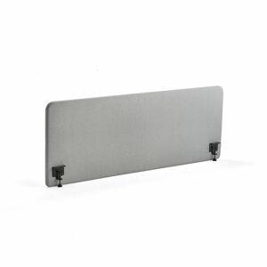 Stolový paraván Zone, 1800x650x30mm, vč. svorek, světle šedá