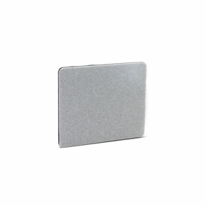 Stolový paraván Zip Calm, 800x650 mm, černý zip, světle šedá
