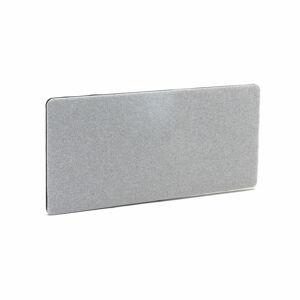 Stolový paraván Zip Calm, 1400x650 mm, černý zip, světle šedá