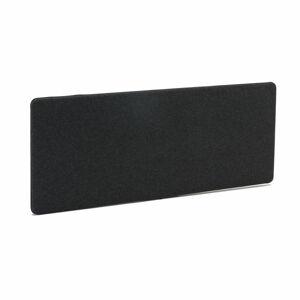 Stolový paraván Zip Calm, 1600x650 mm, tmavě šedá