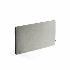 Nástěnka - akustický panel Zip Rivet, 1400x650 mm, černý zip, stříbrnošedá