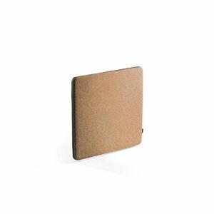 Stolový paraván Zip Rivet, 800x650 mm, černý zip, měděná