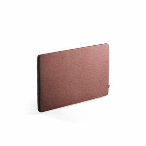 Stolový paraván Zip Rivet, 1200x650 mm, černý zip, červenofialová