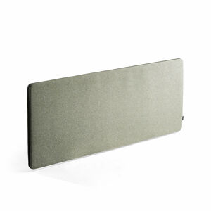Stolový paraván Zip Rivet, 1800x650 mm, černý zip, zelenomodrá