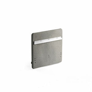 Stolový paraván Zip Rivet se závěsnou lištou, 800x650 mm, černý zip, stříbrnošedá