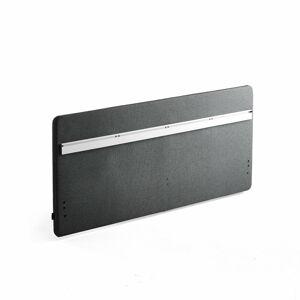 Stolový paraván Zip Rivet se závěsnou lištou, 1600x650 mm, černý zip, antracitová