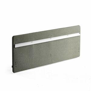 Stolový paraván Zip Rivet se závěsnou lištou, 1800x650 mm, černý zip, zelenomodrá