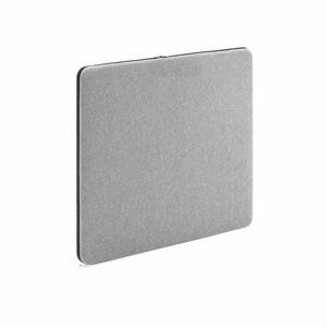 Stolový paraván Zip Calm, 600x650, černý zip, světle šedá