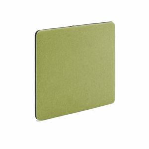 Stolový paraván Zip Calm, 600x650, černý zip, zelená
