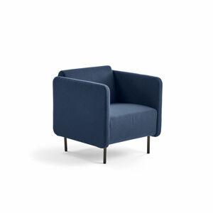 Křeslo Clear, textilní potah, námořnická modrá