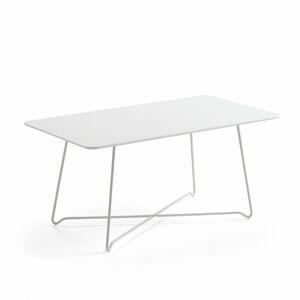 Konferenční stolek Iris, 1100x600 mm, bílá, bílá deska