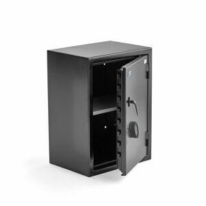 Bezpečnostní skříň Contain, elektronický kódový zámek, 750x550x400 mm, černá