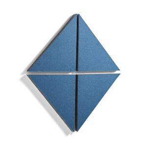 Akustický panel Trigon, trojúhelník, 600x600x40 mm, modrý, bal. 4 ks